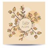 Aprecie o cartão do outono Imagens de Stock Royalty Free