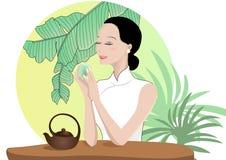 Aprecie o chá ilustração royalty free