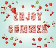 Aprecie o fundo do verão com frutos Ilustração Royalty Free