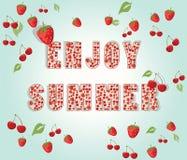 Aprecie o fundo do verão com frutos Ilustração do Vetor