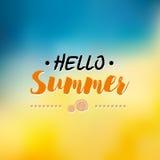 Aprecie o molde do logotipo das horas de verão Etiqueta tipográfica do projeto do vetor Rotulação dos feriados Paraíso tropical d Fotografia de Stock Royalty Free