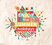Aprecie o projeto do cartaz das citações do divertimento do verão Foto de Stock Royalty Free