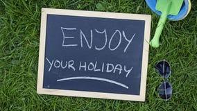 Aprecie seu feriado Imagem de Stock