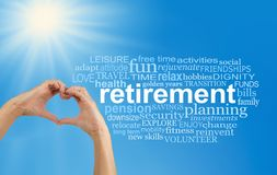 Aprecie sua nuvem da palavra da aposentadoria ao máximo foto de stock