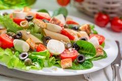 Aprecie sua salada da mola foto de stock royalty free