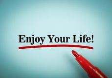 Aprecie sua vida Imagem de Stock Royalty Free