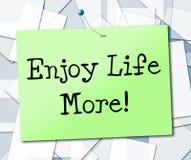 Aprecie a vida mais mostras Live And Lifestyle alegre ilustração stock