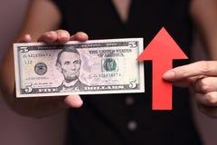 Aprecio del dólar de EE. UU. Imágenes de archivo libres de regalías