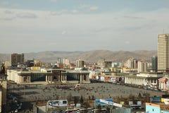 Apreensão de seguimento do ex-president da agitação, Mongolia foto de stock