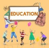 Aprenda al estudiante Education Concept del campo de los niños Fotografía de archivo libre de regalías