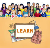 Aprenda al estudiante Education Concept del campo de los niños Imagen de archivo