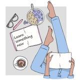 Aprenda algo novo ilustração stock