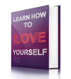 Aprenda amar-se. ilustração stock