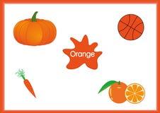 Aprenda as cores, crianças estão aprendendo as cores, folha do divertimento Imagem de Stock
