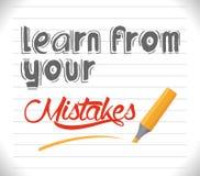 Aprenda de seus erros ilustração do vetor
