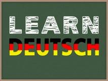 Aprenda Deutsch Imágenes de archivo libres de regalías
