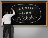 Aprenda do conceito dos erros fotos de stock
