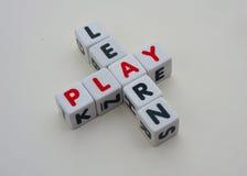 Aprenda e jogue Fotografia de Stock