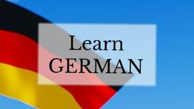 Aprenda el alemán ilustración del vector