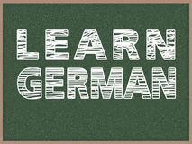 Aprenda el alemán Fotografía de archivo