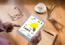 Aprenda el aprendizaje de la educación que estudia concepto foto de archivo