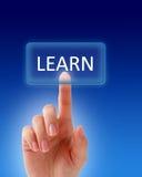 Aprenda el botón. Imagen de archivo libre de regalías