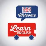 Aprenda el diseño del inglés stock de ilustración