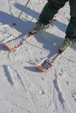 Aprenda el esquí para hacer vuelta fotografía de archivo libre de regalías