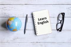Aprenda el inglés fotografía de archivo