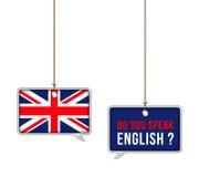 Aprenda el inglés stock de ilustración