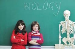 Aprenda la biología en escuela Foto de archivo