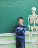 Aprenda la biología en escuela Foto de archivo libre de regalías