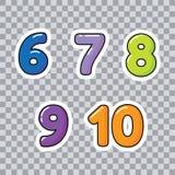 Aprenda los números y la cuenta para los números de los niños para el vector de los niños libre illustration
