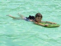 Aprenda nadar Foto de archivo libre de regalías
