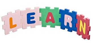 Aprenda o alfabeto Imagem de Stock Royalty Free