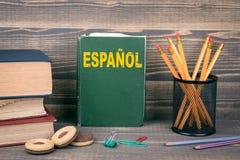 Aprenda o conceito espanhol fotos de stock royalty free