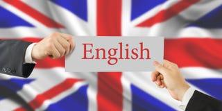 Aprenda o conceito inglês Tempo a aprender línguas fotos de stock royalty free