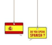 Aprenda o espanhol ilustração royalty free