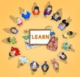 Aprenda o estudante Education Concept do acampamento das crianças Imagens de Stock Royalty Free