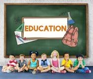 Aprenda o estudante Education Concept do acampamento das crianças Fotos de Stock Royalty Free