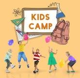 Aprenda o estudante Education Concept do acampamento das crianças Foto de Stock Royalty Free
