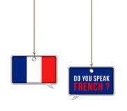 Aprenda o francês ilustração royalty free