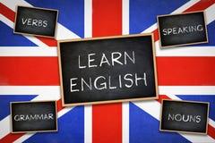 Aprenda o inglês imagens de stock royalty free