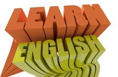 Aprenda o inglês ilustração do vetor