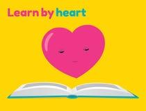 Aprenda pela etiqueta do coração Fotos de Stock