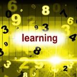 Aprenda que aprendendo representa a escola se tornam e eduque ilustração do vetor