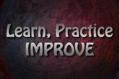 Aprenda que la práctica mejora concepto ilustración del vector