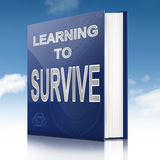 Aprenda sobreviver ao conceito. Foto de Stock