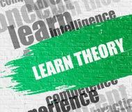 Aprenda a teoria em Brickwall ilustração stock