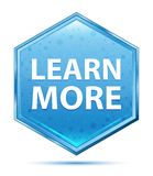 Aprenda un botón azul más cristalino del hexágono libre illustration